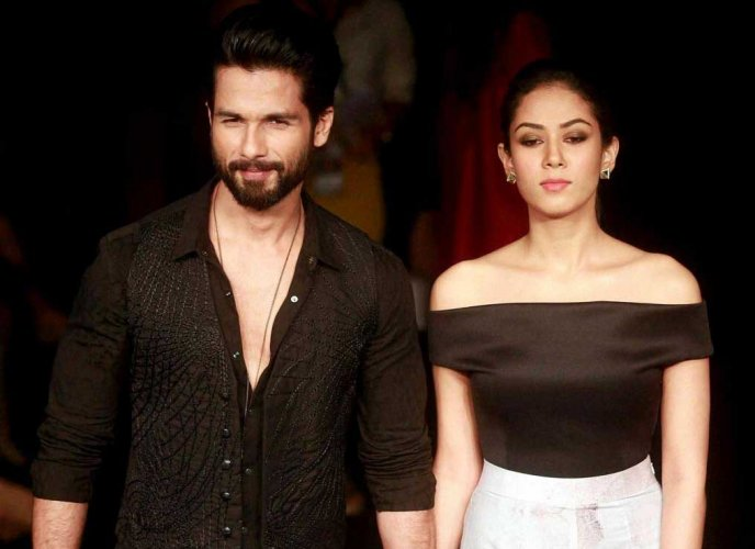Actor Shahid Kapoor and wife Mira Rajput. (File Photo)