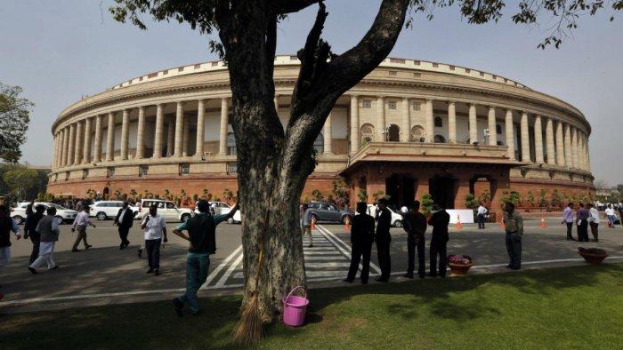 Parliament of India, New Delhi. (DH File Photo)