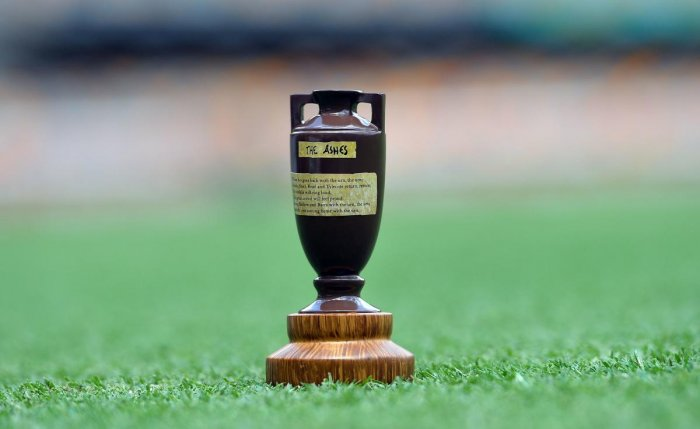 The Ashes urn. Photo credit: AFP