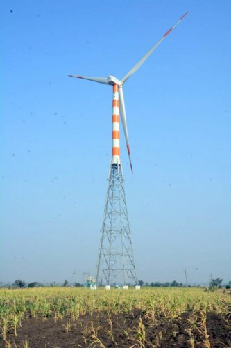 The wind energy plant is equipped with four wind turbines, with potential to generate around 260 lakh units per annum.