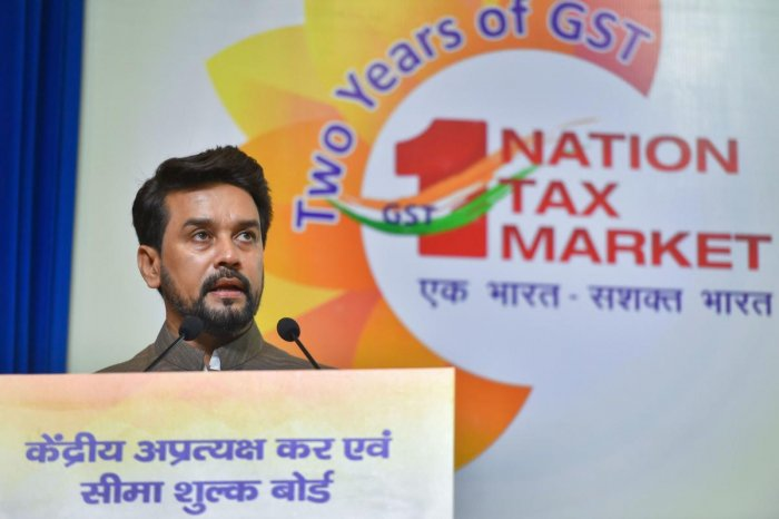 Minister of State for Finance and Corporate Affairs Anurag Singh Thakur moved the bill for discussion in the Upper House. Photo credit: PTI