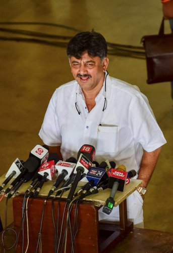 Congress leader D K Shivakumar (PTI File Photo)