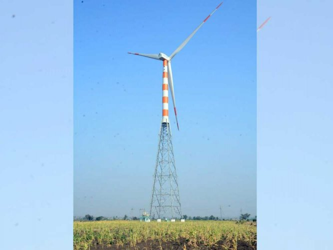 With the launch of an 8.4 MW wind power plant in Ilkal in Bagalkot on Wednesday, 50% of energy consumption of Hindustan Aeronautics Limited (HAL)'s Bengaluru divisions will now be met by renewable energy. DH file photo