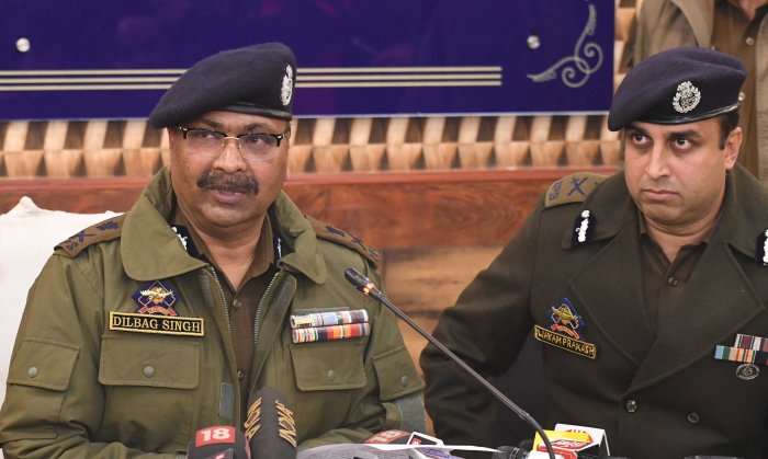 Director General of police (DGP) Jammu and Kashmir Dilbagh Singh. (File Photo)