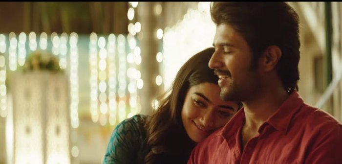 Rashmika and Vijay Deverakonda in Dear Comrade. In Bengaluru, the Kannada dubbed version is getting eight shows a day, while the Telugu original is getting about 250.