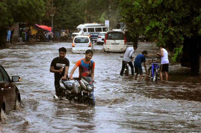 Several places in Rajasthan witnessed mild to heavy showers on Monday with a death toll in rain-related incidents touched 24. (PTI Photo)