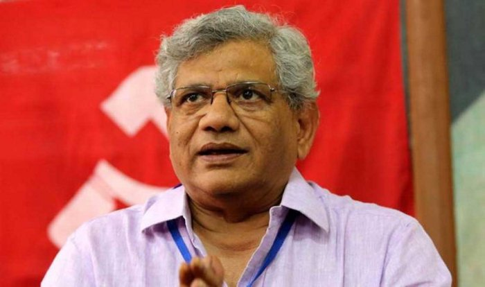 CPM leadership including general secretary Sitaram Yechury. File photo