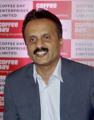 V.G. Siddhartha, owner of the Café Coffee Day chain (PTI Photo)