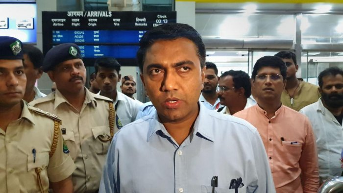 File picture of Goa Chief minister Pramod Sawant. Photo credit: PTI