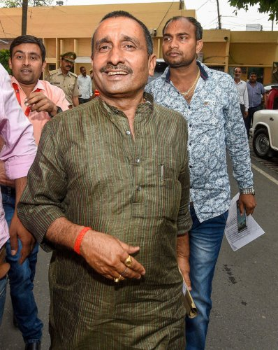 BJP MLA Kuldeep Singh Sengar was among the 10 people named in an FIR registered on Monday in connection with a road accident in which the Unnao rape survivor and her lawyer were critically injured and her two aunts killed (PTI Photo)