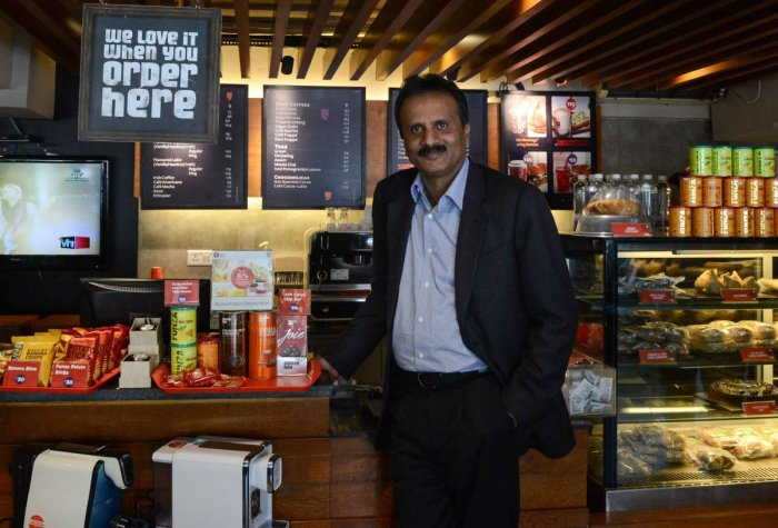 File photo of coffee tycoon V.G. Siddhartha, owner of the Café Coffee Day chain. Photo credit: AFP