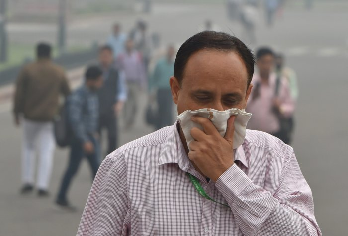 The massive air pollution in Northwestern parts of India, which aggravates every winter, is linked to the efforts by farmers in the region to conserve ground water, (PTI Photo)