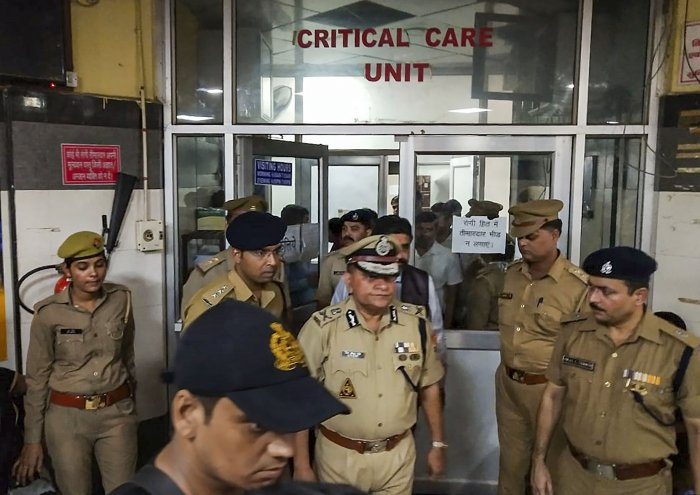 The condition of the Unnao-rape survivor and her lawyer, undergoing treatment at the King George Medical University hospital here after getting critically injured in a road accident, is stable, said doctors on Tuesday. (PTI Photo)