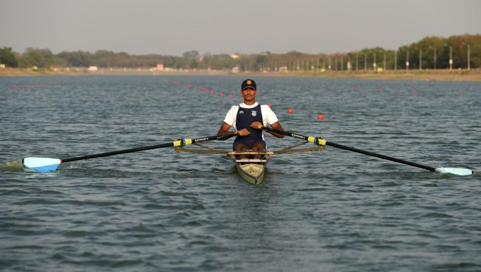 Indian rower Dattu Bhokanal (AFP Photo)