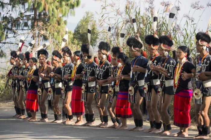 Naga tribals.