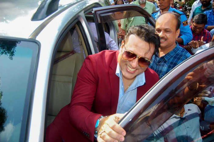 Bollywood actor Govinda during his visit to Bhopal, Wednesday, July 17, 2019. (PTI Photo)