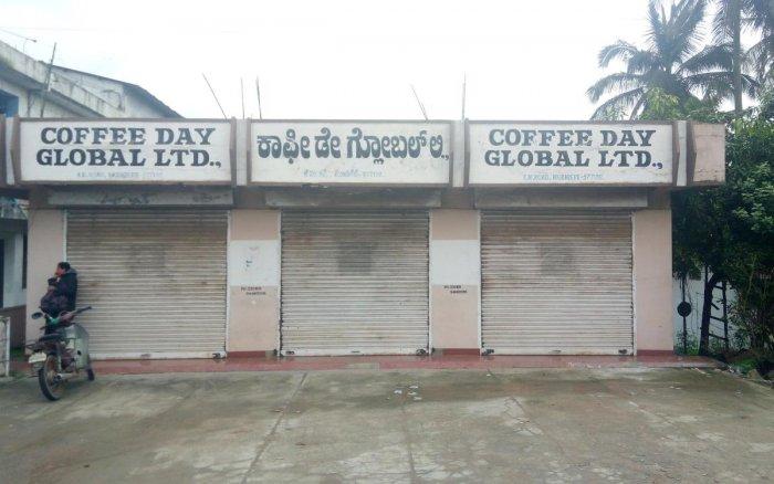 The business establishments of Coffee Day Global Ltd were shut in Mudigere taluk after entrepreneur V G Siddhartha went missing.
