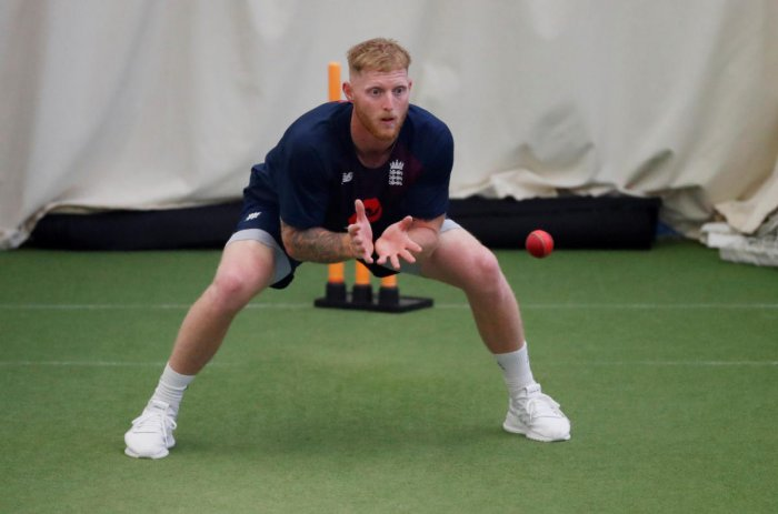 England's Ben Stokes during nets. (Reuters Photo)