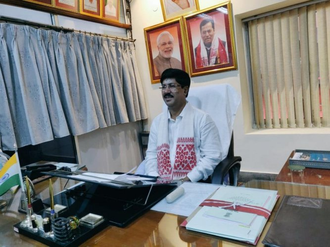 First-time MLA Aminul Haque Laskar of the BJP. (Aminul Haque Laskar/ Twitter)