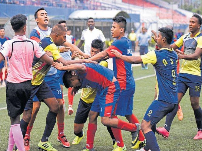 Army teams brawl at football match