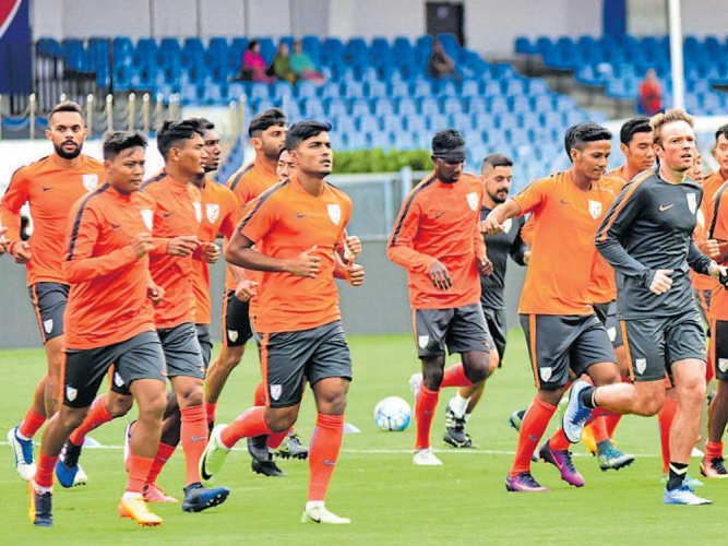 Indian football team gains two places in FIFA rankings | Deccan Herald