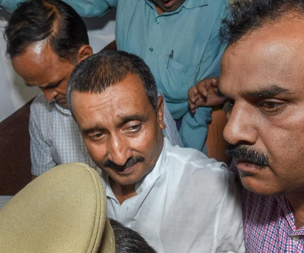 Uttar Pradesh police on Monday almost gave a clean chit to Unnao rape accused BJP legislator Kuldeep Senger even as the kin of the rape victim said that they had been receiving a threat from the MLA's supporters and were being pressurised to withdraw the