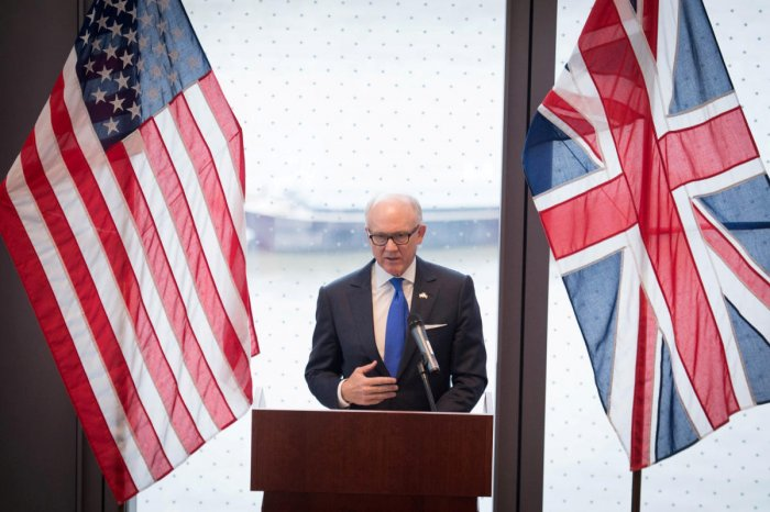 "U.S. Ambassador to Britain Woody Johnson criticised Tehran for funding ""proxy wars and malign activities"" instead of investing in its economy. He said Iran needed to make tangible and sustained changes to behave like a normal country. Reuters file photo"