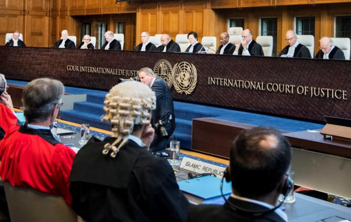 """The UN's top court Wednesday ordered the United States to lift sanctions on """"humanitarian"""" goods to Iran that President Donald Trump reimposed after pulling out of Tehran's nuclear deal. Reuters file photo"""