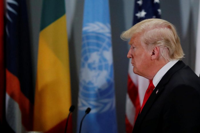The feud came as Trump and Iranian President Hassan Rouhani addressed the United Nations General Assembly, offering diametrically opposed messages. Reuters file photo