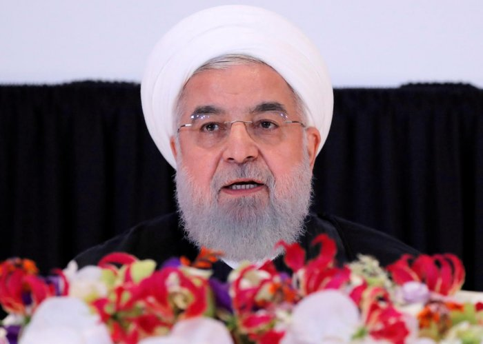 Hassan Rouhani speaks on the sidelines of the United Nations General Assembly in New York. Reuters file photo.