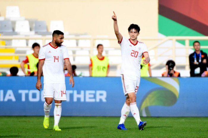 Iran will pin their hopes on Sardar Azmoun (right) to see them through against Iraq during their Group D game on Wednesday. AFP