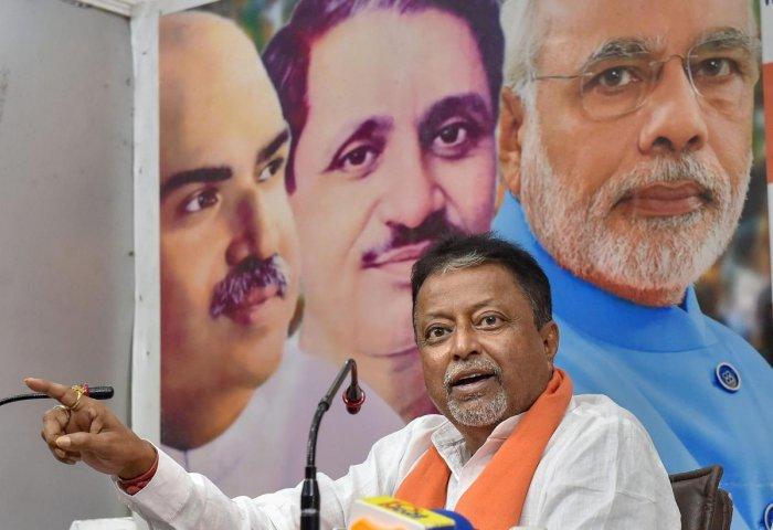 BJP leader Mukul Roy in Kolkata. (PTI Photo)