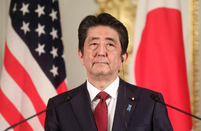 Abe's arrival was preceded by that of Japan's Foreign Minister Taro Kono, who held closed-door talks with his Iranian counterpart Mohammad Javad Zarif. (Reuters File Photo)