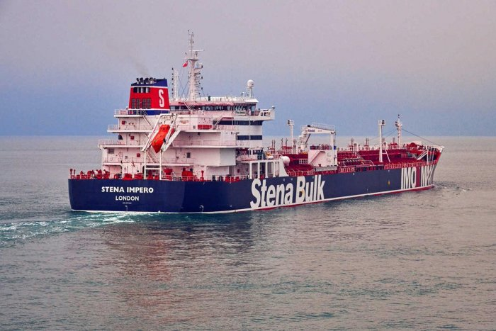 Iran has flagged the Stena Impero and Indians are among the crew members held (Reuters/Handout Photo)