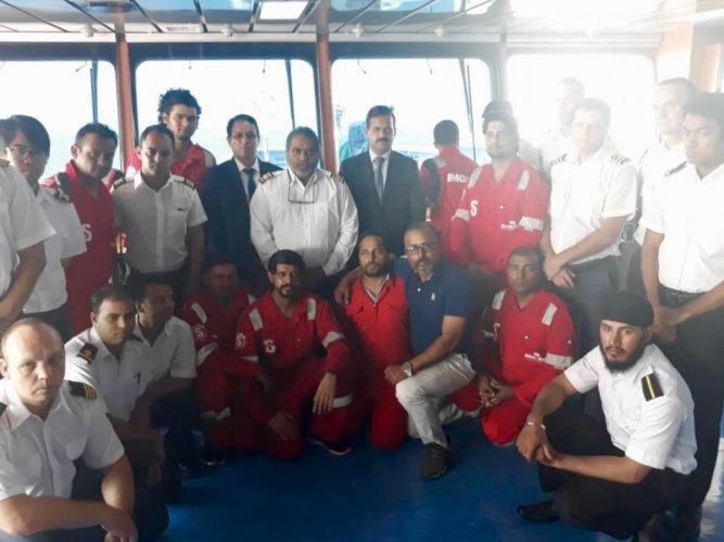 Iran has freed nine Indian crew members of a Panama-flagged tanker (Photo Twitter)