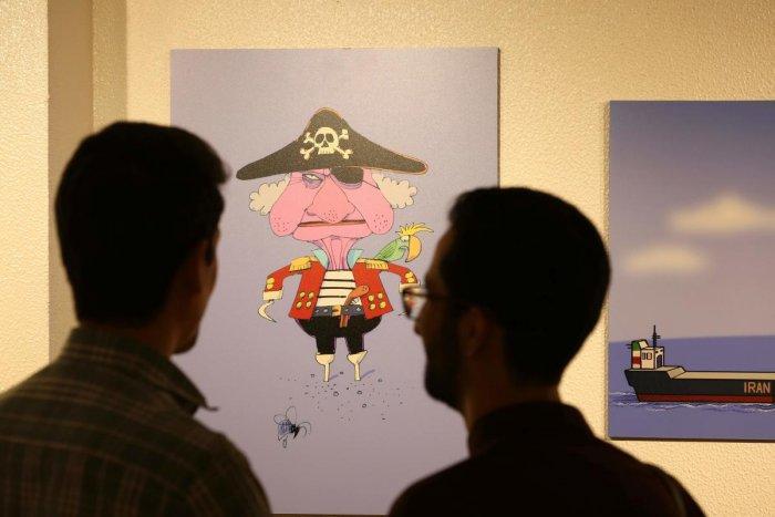 Ship Seize Iran Cartoons Render Queen As Pirate Deccan Herald
