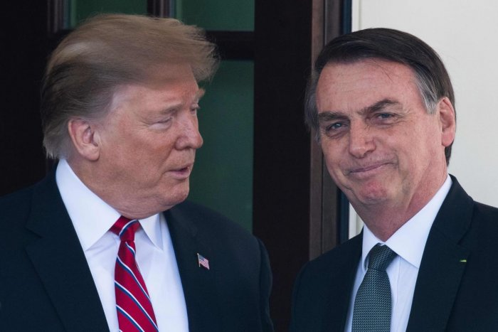 Donald Trump said a few days back that his administration is working on a free-trade agreement with Brazil, to cement closer ties between the two the largest economies in the Western Hemisphere (AFP File Photo)