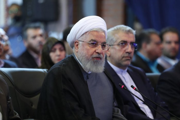 Rouhani said that a US decision to impose sanctions on Mohammad Javad Zarif showed Washington is afraid of the top diplomat. (Photo by Handout/various sources/AFP)