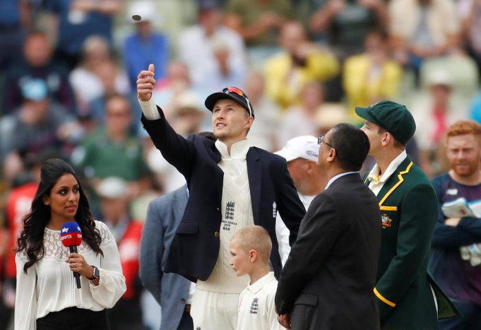 England's Joe Root flips the coin before the match Action (Photo by Reuters)