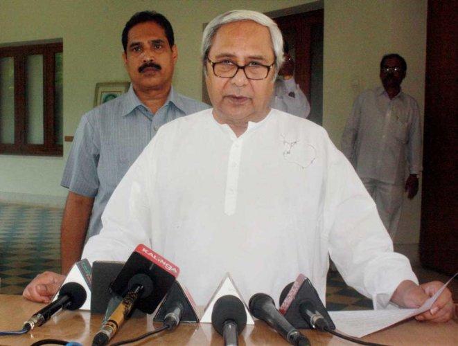 Biju Janata Dal (BJD) president and Chief Minister Naveen Patnaik. File photo