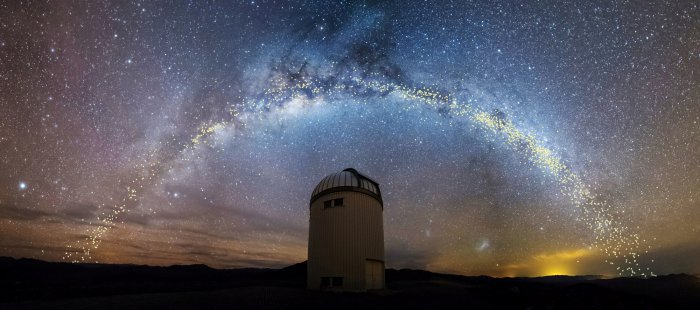 Astronomers have created the most precise map to date of the Milky Way by tracking thousands of big pulsating stars spread throughout the galaxy, demonstrating that its disk of myriad stars is not flat but dramatically warped and twisted in shape. (Reuters Photo)