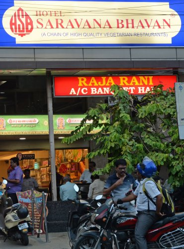 A consumer disputes forum has directed popular south Indian chain of restaurants Saravana Bhavan to pay Rs 1.10 lakh to a Supreme Court advocate as compensation for alleged deficiency in serving food to him. (AFP Photo)