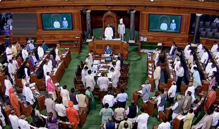 A pictorial representation of Lok Sabha. Photo credit: PTI