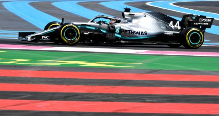 Lewis Hamilton in action during Friday practice for the French Grand Prix. Picture credit: AFP