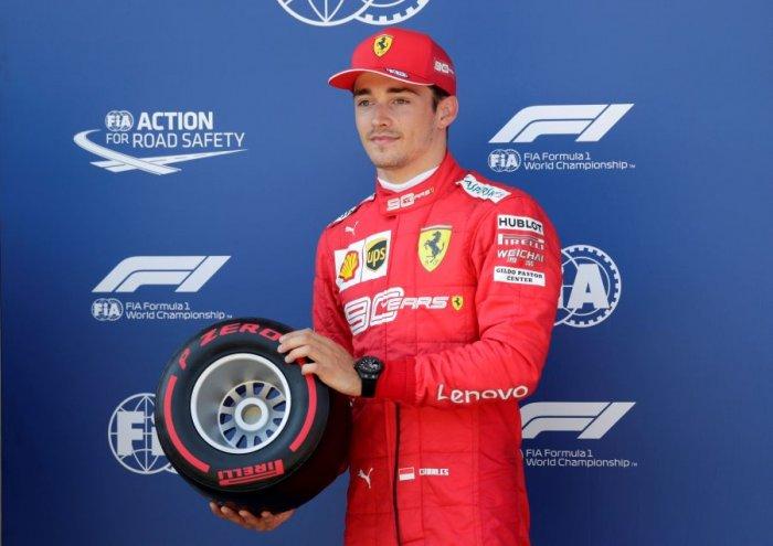 Ferrari's Charles Leclerc took pole position for the Austrian Grand Prix. Picture credit: Reuters