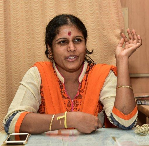 Bengaluru Mayor Gangambike Mallikarjun (DH Photo)