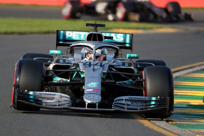 Mercedes driver Lewis Hamilton took pole for the season-opening Australian Grand Prix in Melbourne on Saturday. Picture credit: AFP