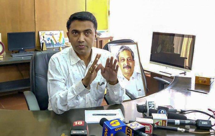 Goa Chief Minister Pramod Sawant (PTI File Photo)