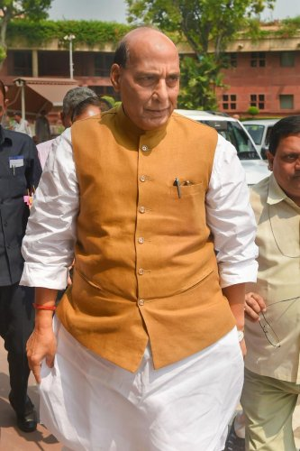 Rajnath said that equipment would be imported only if the situation demanded that it was important and was not being manufactured in the country (PTI File Photo)