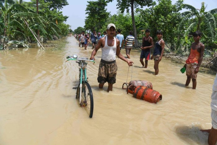 The northern part of Bihar has already witnessed heavy rainfall this month, with most of the rivers, including Kosi, Bagmati, Gandak and Burhi Gandak flowing above the danger mark. AFP file photo